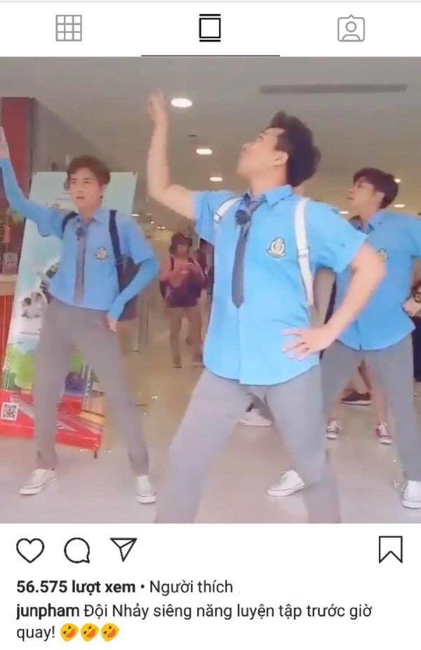 Clip: Vũ đoàn Trấn Thành, Ngô Kiến Huy và Jun Phạm nhảy Hai cô tiên siêu lầy lội khiến fan cười... mệt mỏi - Hình 1