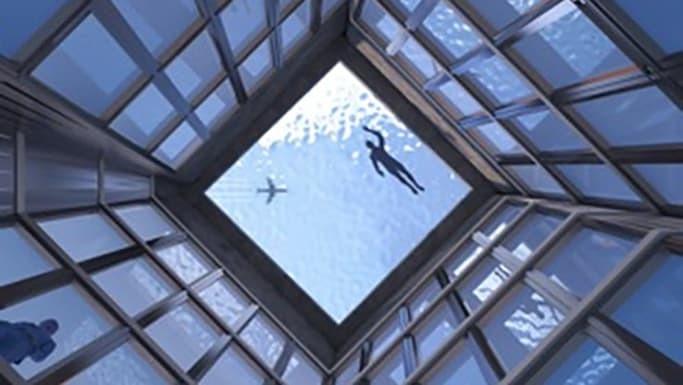 Kinh ngạc bể bơi trên nóc nhà 55 tầng, muốn lên phải đi tàu ngầm - Hình 2
