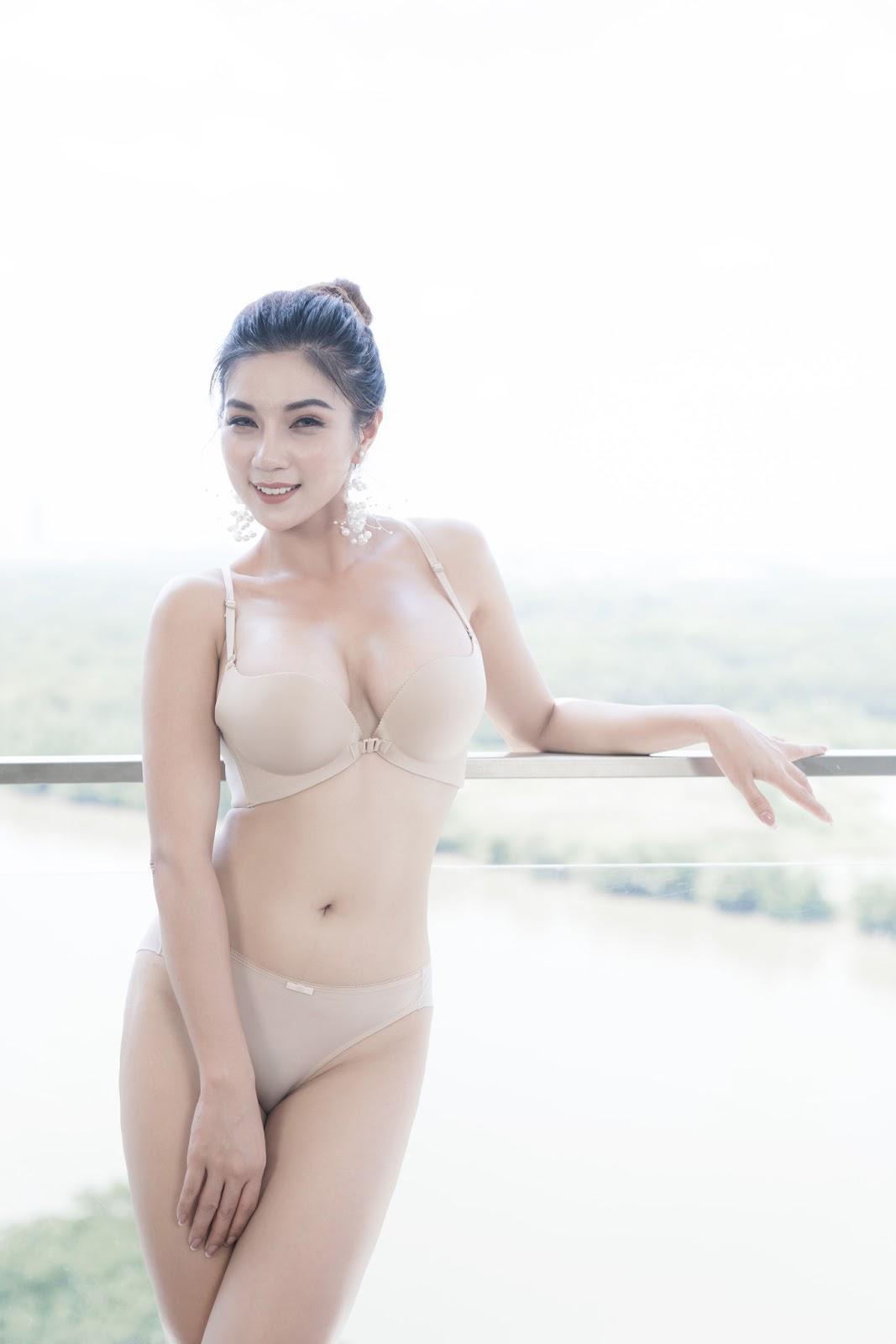 'Ác nữ' Lâm Mỹ Vân tung bộ ảnh nội y gợi cảm quá mức, khẳng định không dung tục - Hình 2