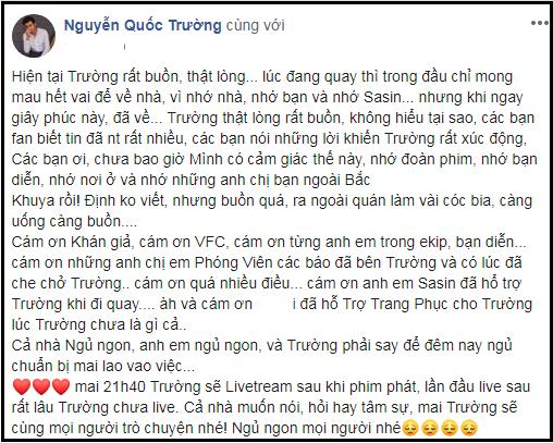 Quốc Trường hoàn tất quay hình cho Về nhà đi con, tạm biệt Hà Nội để trở về Sài Gòn trong luyến tiếc - Hình 3