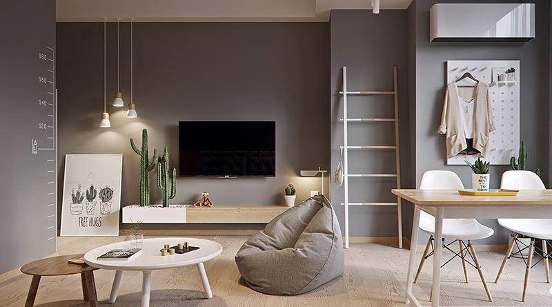 Căn hộ 60 m2 rộng rãi không ngờ nhờ bỏ tường ngăn - Hình 2