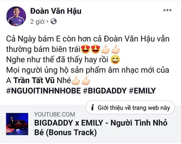 'Vui miệng' nhắc tên Đoàn Văn Hậu trong MV, vợ chồng Big Daddy ngỡ ngàng trước phản ứng quá khích của netizen Việt - Hình 1