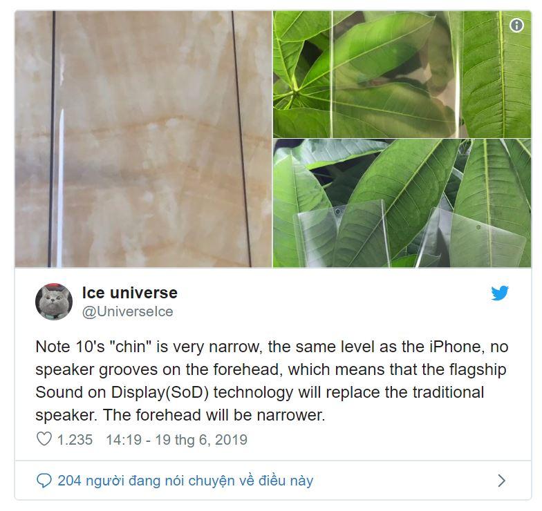 Galaxy Note 10 có thể sử dụng công nghệ Sound on Display để thay thế loa thoại - Hình 1