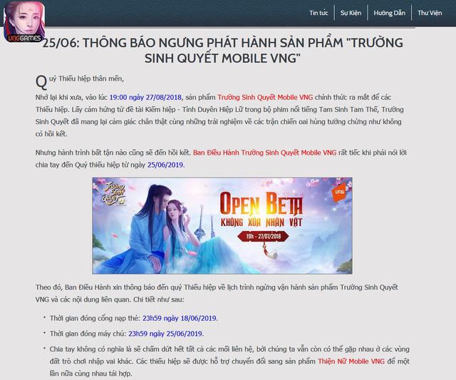 Thêm một game mobile Việt Nam ra đi mãi mãi vào đầu mùa Hè - Hình 1