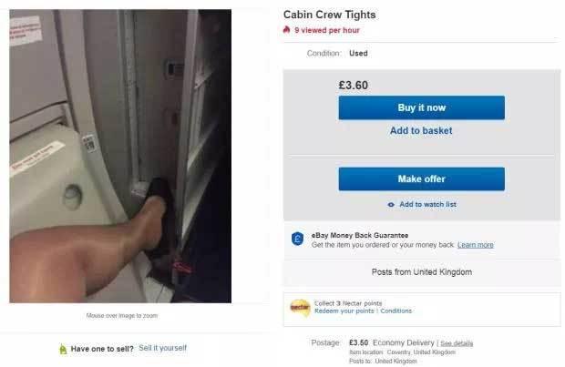 Tiếp viên hàng không bán tất cũ để thêm thu nhập - Hình 1