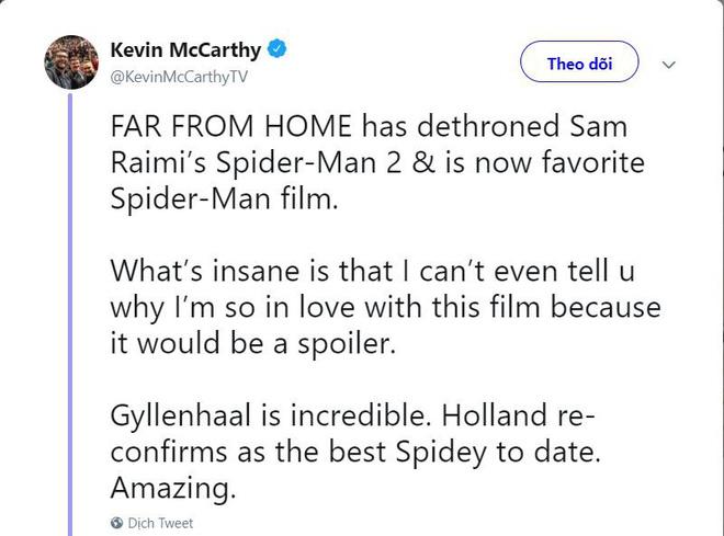 Các bình luận đầu tiên về bom tấn FAR FROM HOME: Xuất sắc hơn cả Spider-Man 2 năm xưa! - Hình 1