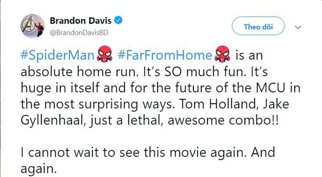 Các bình luận đầu tiên về bom tấn FAR FROM HOME: Xuất sắc hơn cả Spider-Man 2 năm xưa! - Hình 5
