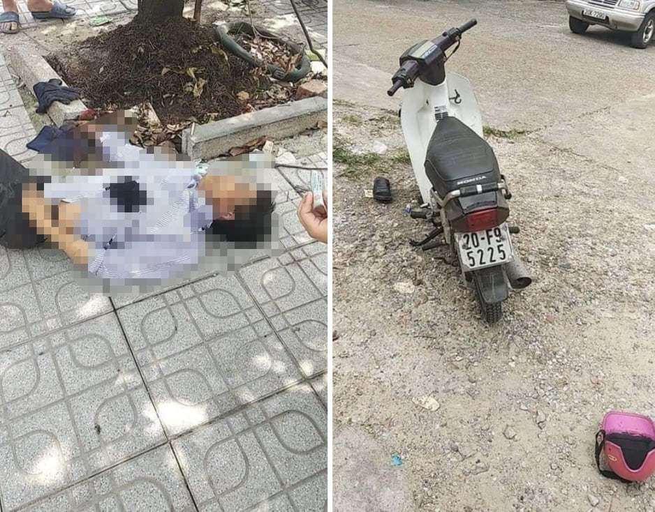 Người đàn ông đi xe máy bất ngờ tử vong giữa trưa nắng ở Thái Nguyên - Hình 1
