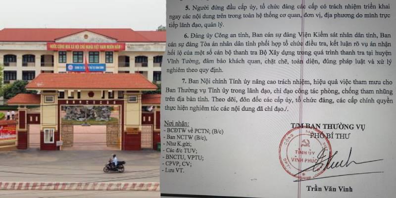 Diễn biến mới nhất vụ Thanh tra Bộ Xây dựng vòi tiền doanh nghiệp ở Vĩnh Phúc - Hình 1