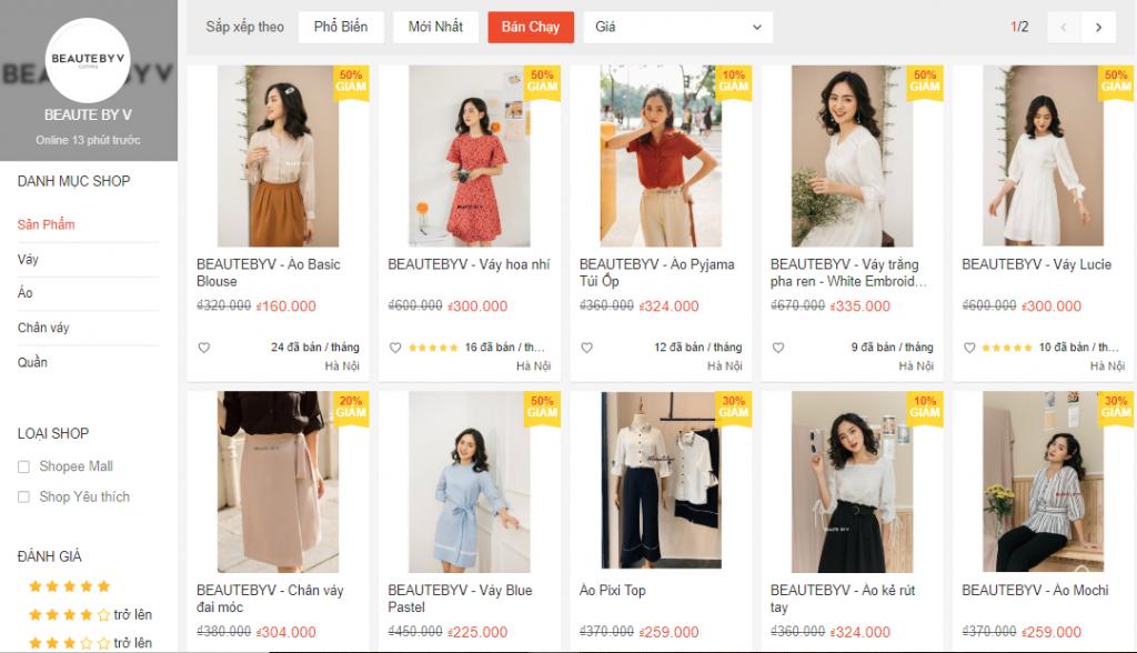 Tổng hợp những Local Brand Việt Nam đã có mặt tại Shopee - Hình 11