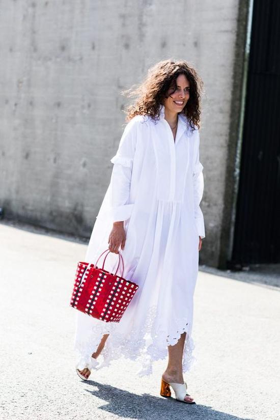 Váy trắng mùa hè cho nàng công sở - Hình 7