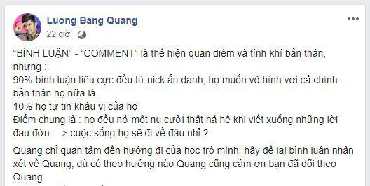 Lương Bằng Quang công khai bạn gái mới sau khi bị Ngân 98 tố ngoại tình ngay tại nhà? - Hình 1
