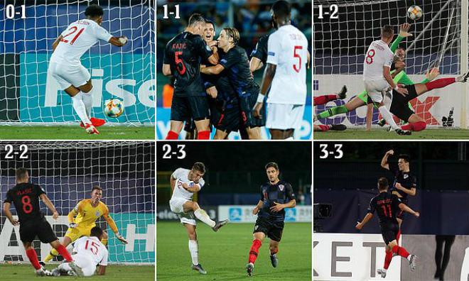 U21 Croatia - U21 Anh: Điên rồ 6 bàn & màn rượt đuổi ngoạn mục - Hình 1