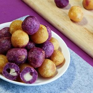 Bánh khoai lang tím bọc phô mai chiên - Hình 10