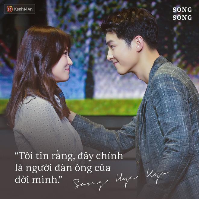 Loạt câu nói ngôn tình của Song Joong Ki và Song Hye Kyo: Bao lời hứa bên nhau trọn đời nay còn đâu? - Hình 6
