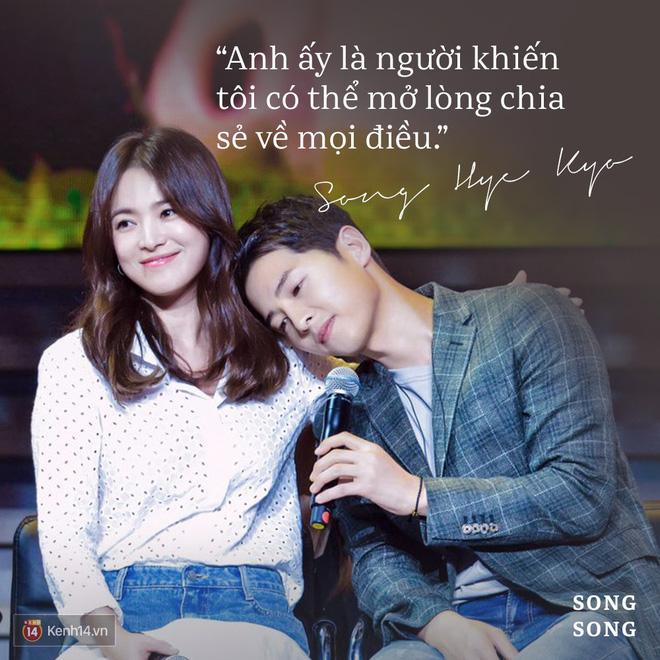 Loạt câu nói ngôn tình của Song Joong Ki và Song Hye Kyo: Bao lời hứa bên nhau trọn đời nay còn đâu? - Hình 12