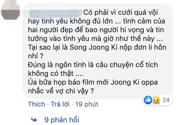 Phản ứng của netizen Hàn, Việt về tin Song Song ly hôn: Dân Hàn đồng loạt đổ lỗi cho Song Hye Kyo - Hình 7