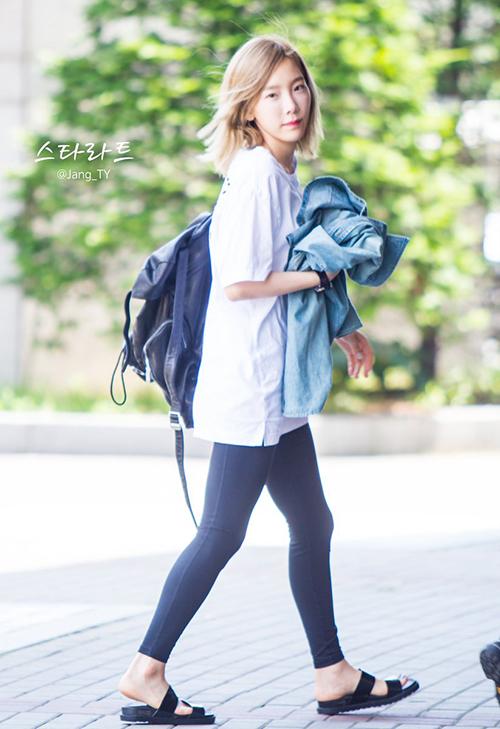 Dàn Idol Hàn so chân thon khi diện quần legging - Hình 8