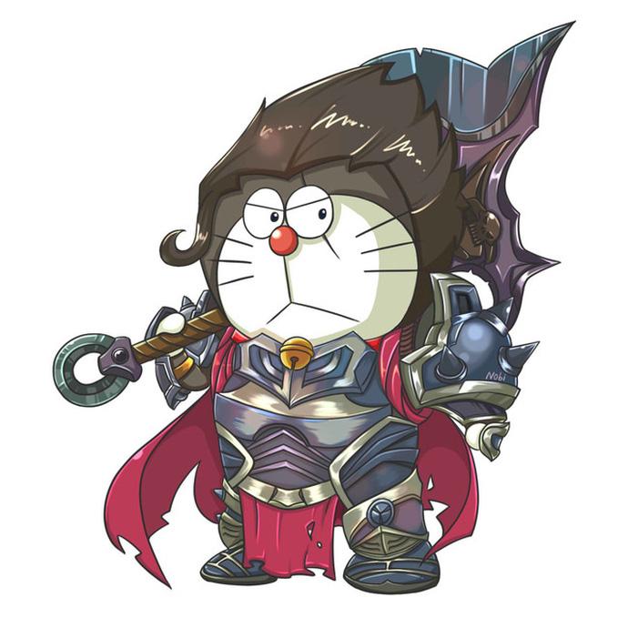 Khi Doraemon cosplay các nhân vật LMHT - Hình 5