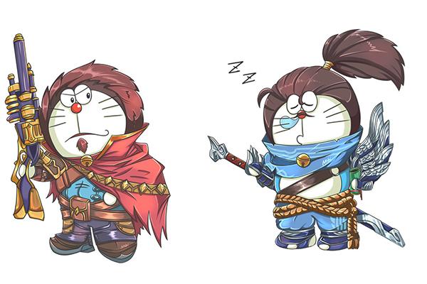 Khi Doraemon cosplay các nhân vật LMHT - Hình 1