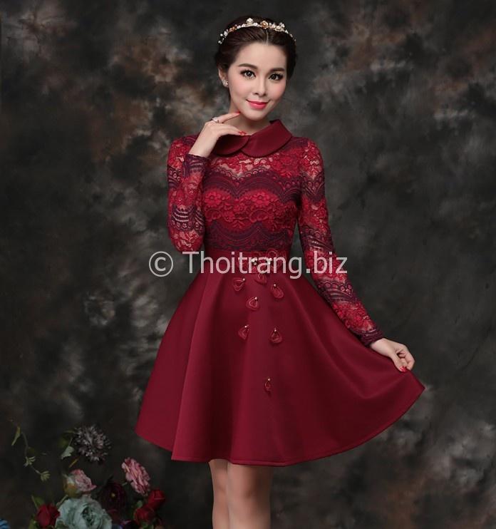 Kiểu váy liền thân dáng xòe nàng công sở thêm xinh - Hình 6