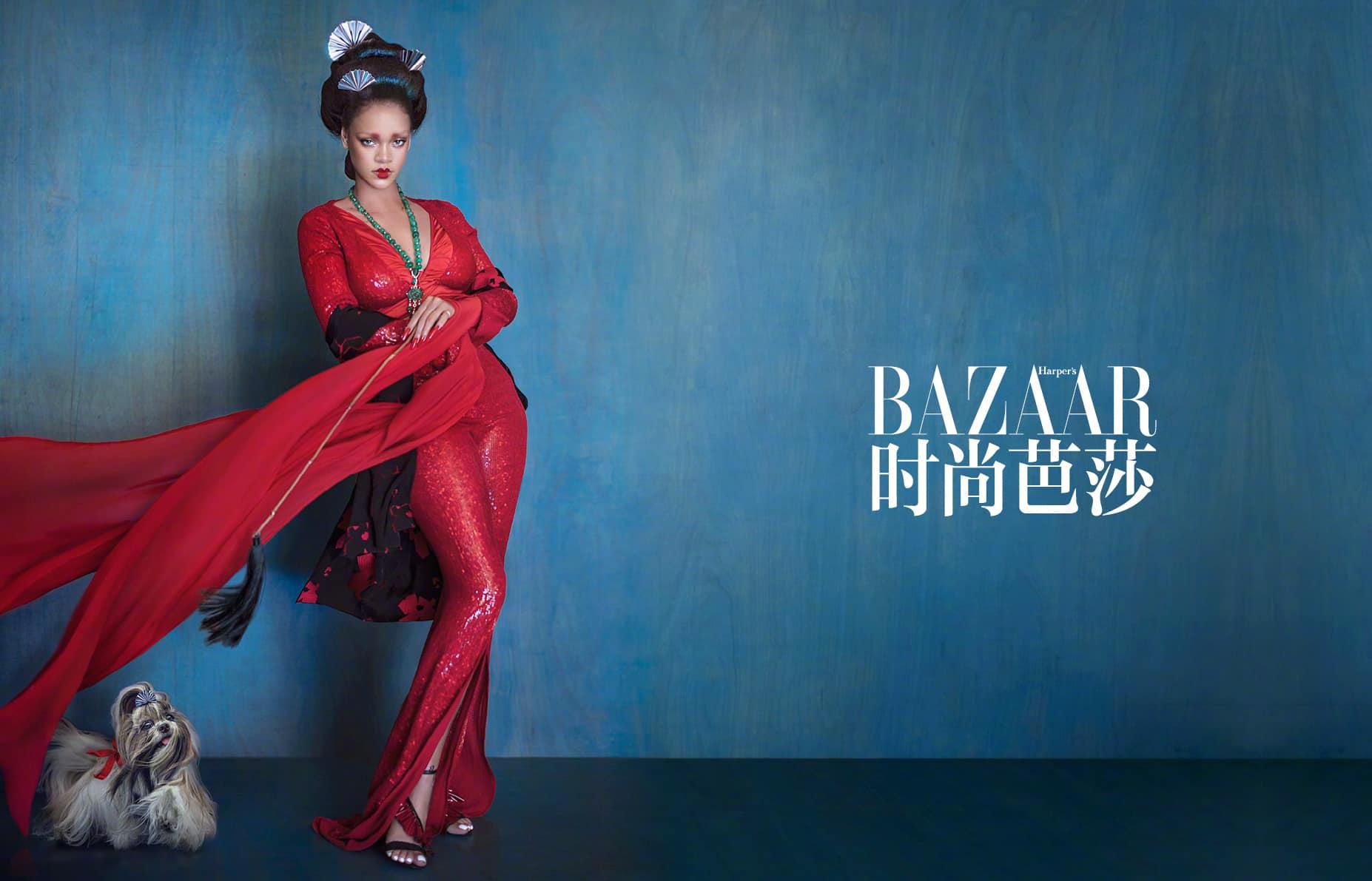 Rihanna hóa nàng tiên bướm ấn tượng trên tạp chí thời trang Trung Hoa - Hình 2