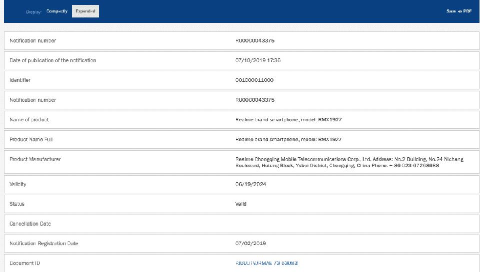 Realme 4 và Realme 4 Pro vừa đạt chứng nhận EEC tại Nga, sắp sửa ra mắt? - Hình 1