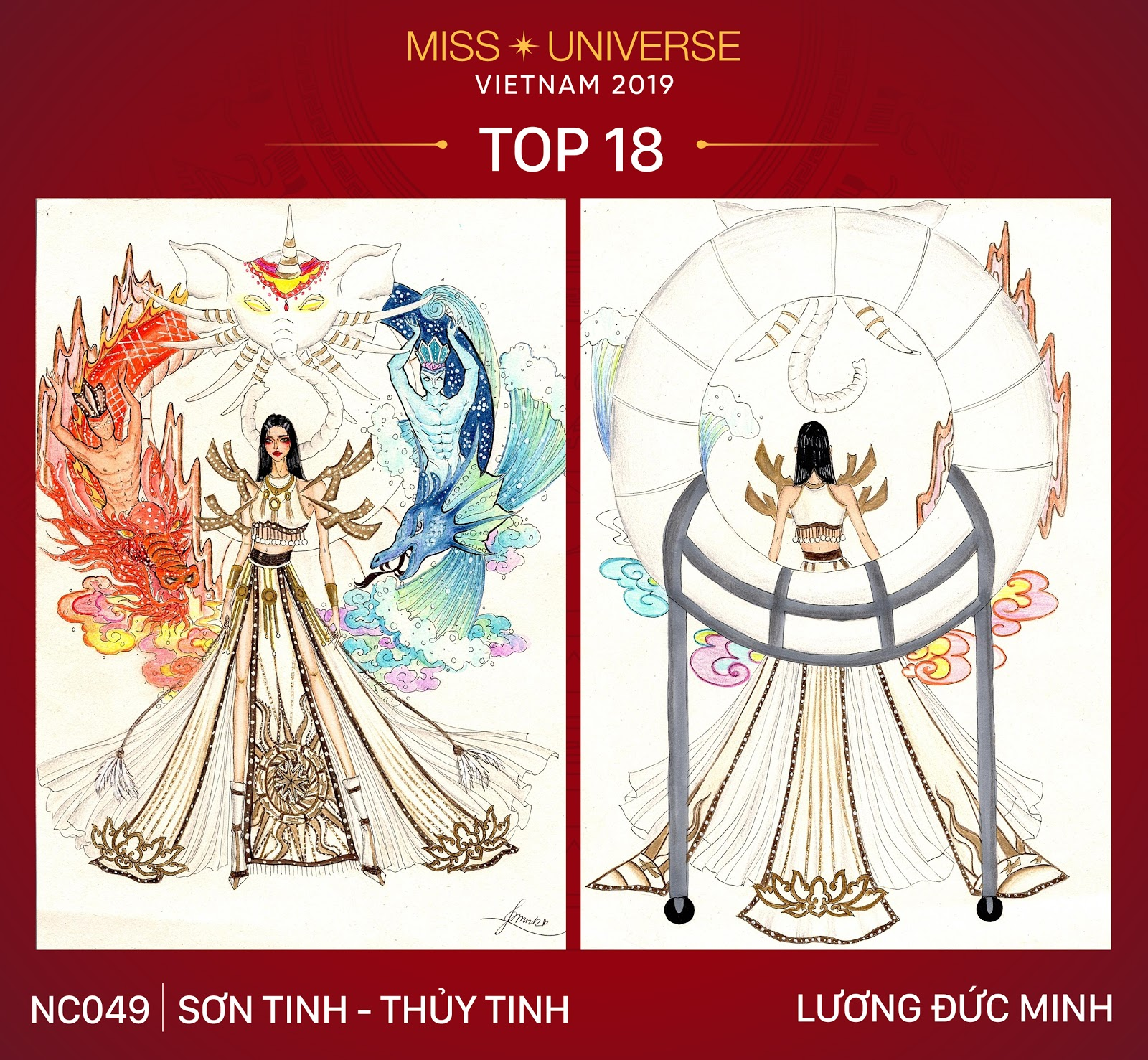 Công bố Top 18 trang phục dân tộc cho Hoàng Thùy tại Miss Universe 2019 - Hình 15