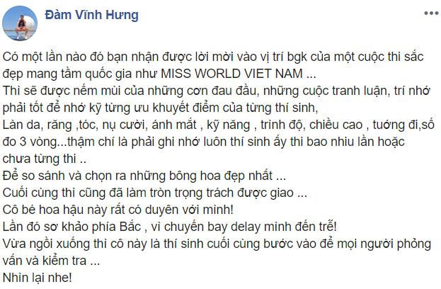 Đàm Vĩnh Hưng chia sẻ khó khăn khi ngồi ghế giám khảo Miss World Vietnam, kể kỷ niệm cùng Lương Thùy Linh - Hình 6