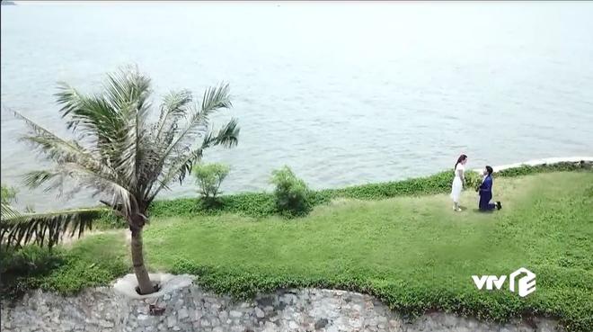Đáng ra phải là cảnh lãng mạn nhất tập cuối Về Nhà Đi Con thì Vũ lại ném ô xả rác xuống biển, quỳ cả 2 chân cầu hôn Thư - Hình 7