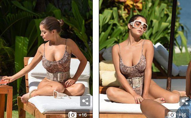 Demi Rose đẹp nuột nà bên bể bơi - Hình 1