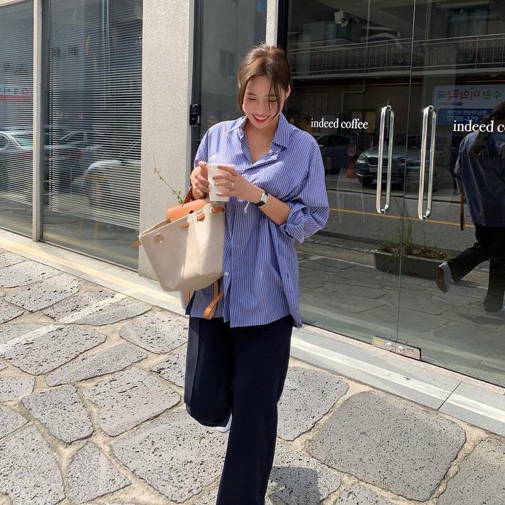 Street style Châu Á: Sơ mi chiếm ưu thế toàn tập vì đơn giản lại dễ mặc đẹp - Hình 8