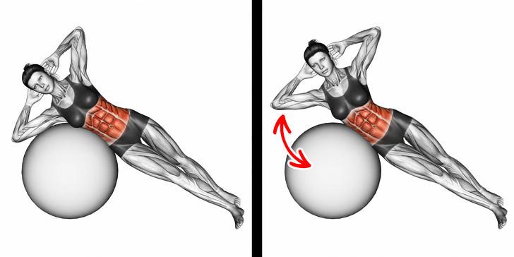 10 động tác đơn giản giúp chị em lấy lại bụng phẳng eo thon - Hình 3