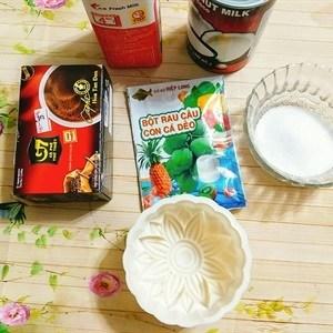 Cách làm bánh trung thu rau câu cà phê nhân sữa dừa mát lạnh - Hình 2