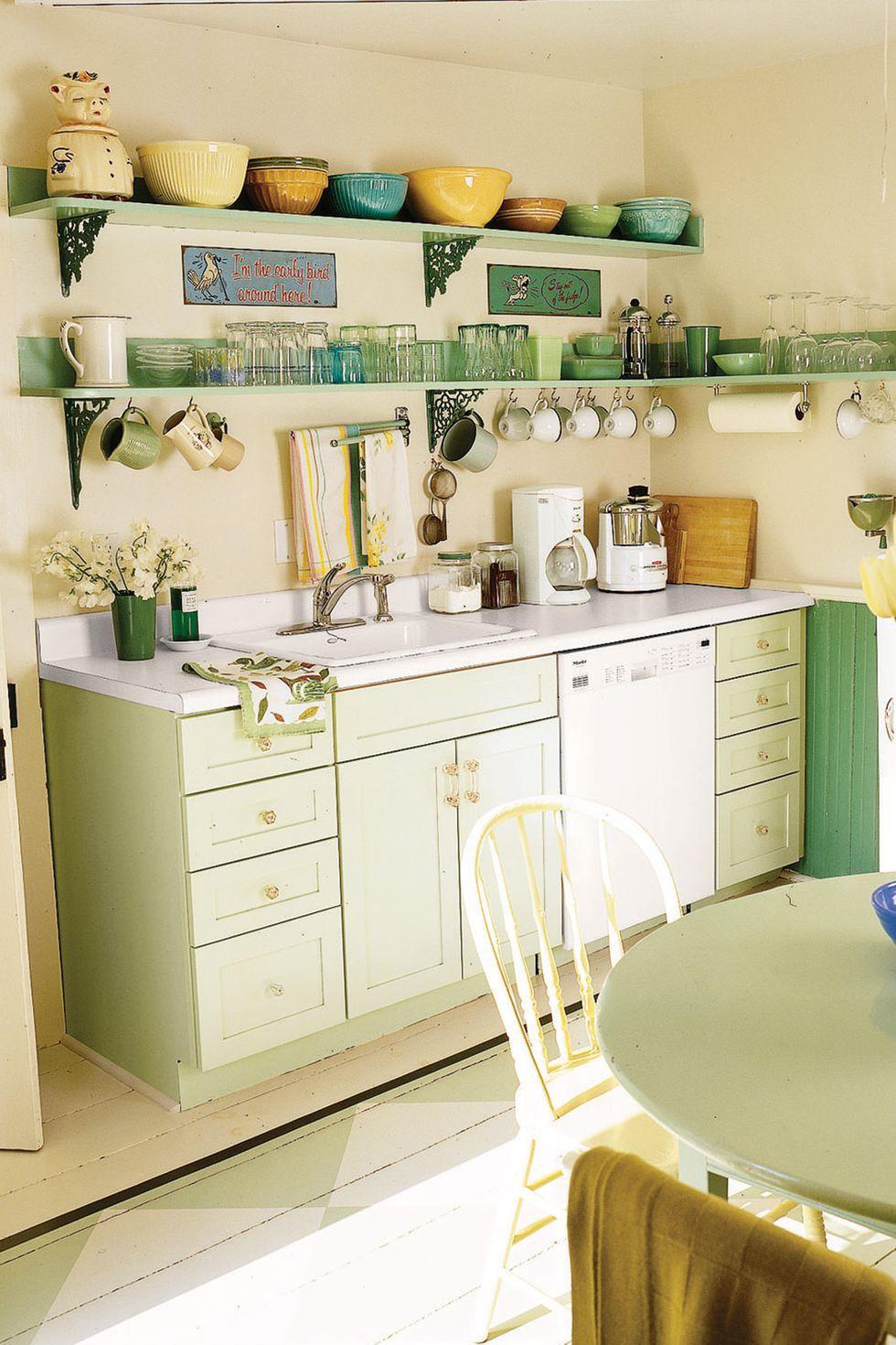 13 thiết kế bếp nhỏ với phong cách Retro khiến bạn không thể không ngắm nhìn - Hình 13