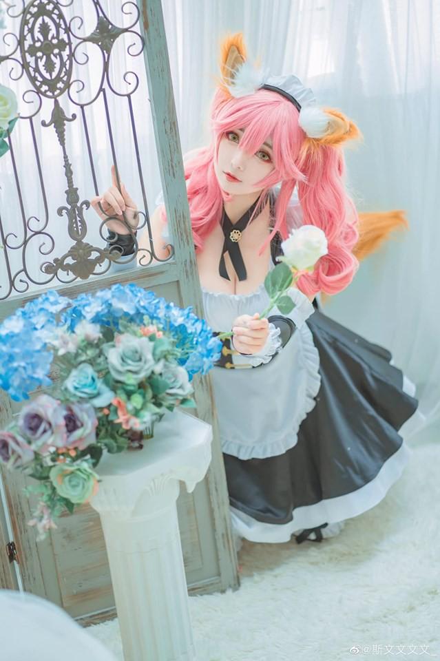 Bé cáo Tamamo-no-Mae cực xinh đẹp và dễ thương trong trang phục nàng hầu - Hình 1
