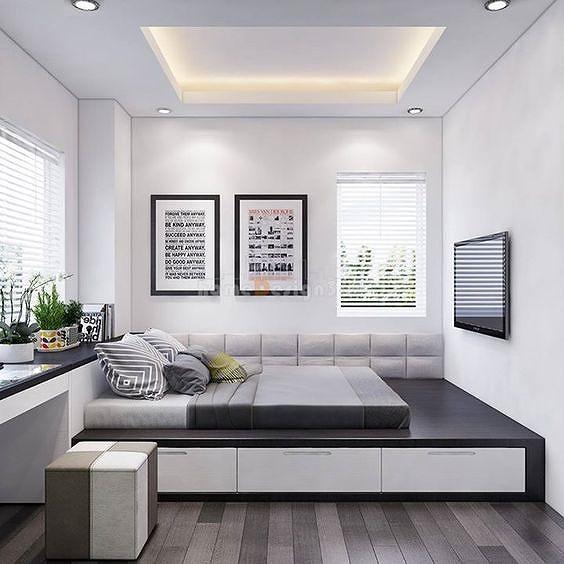 Phòng ngủ nổi bật cho nhà phố hẹp nhờ biến tấu cổ điển và cây xanh - Hình 5