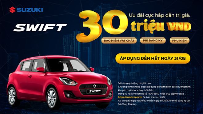 Suzuki tung chương trình ưu đãi đến 30 triệu đồng cho khách mua xe trong tháng 8 - Hình 3