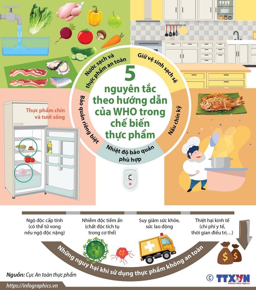 5 nguyên tắc theo hướng dẫn của WHO trong chế biến thực phẩm - Hình 1