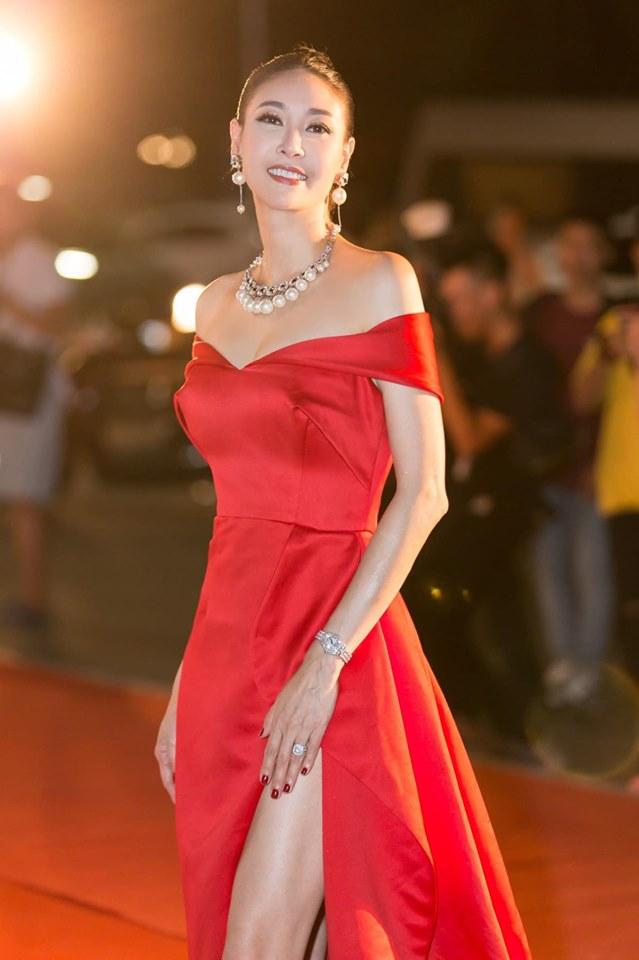 Hoa hậu Hà Kiều Anh mặc váy đẹp như thiên nga, cả showbiz ngước nhìn - Hình 13