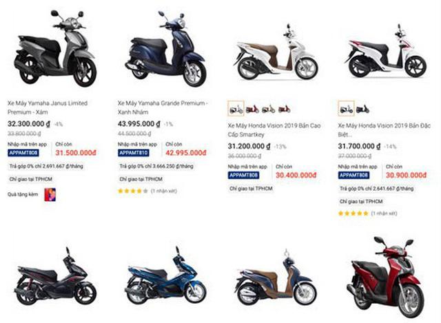 Nở rộ bán xe máy trên mạng - Hình 1