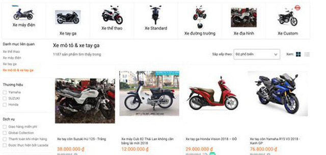 Nở rộ bán xe máy trên mạng - Hình 3