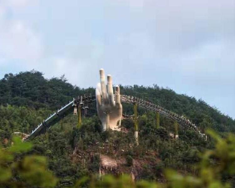 Xôn xao cây cầu Trung Quốc nhái cầu Vàng của Việt Nam - Hình 2