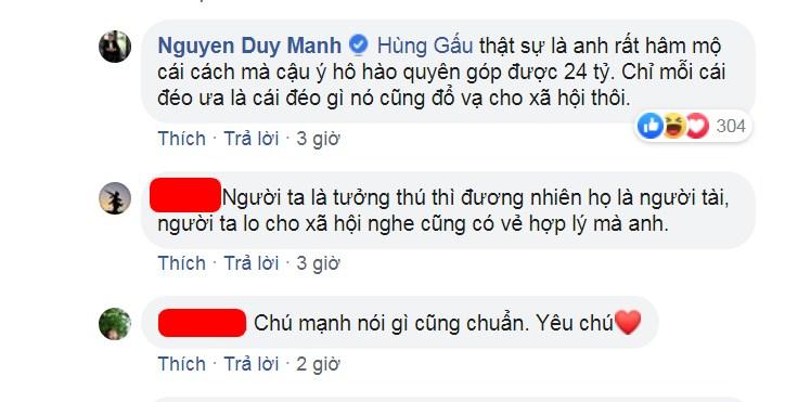Duy Mạnh 'cà khịa' cực gắt với chuyện Phan Anh kêu gọi quyên góp 24 tỷ để làm từ thiện - Hình 3