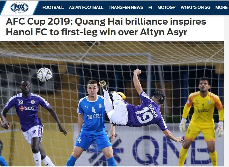 Lập siêu phẩm ở AFC Cup, Quang Hải được báo châu Á khen ngợi hết lời - Hình 1