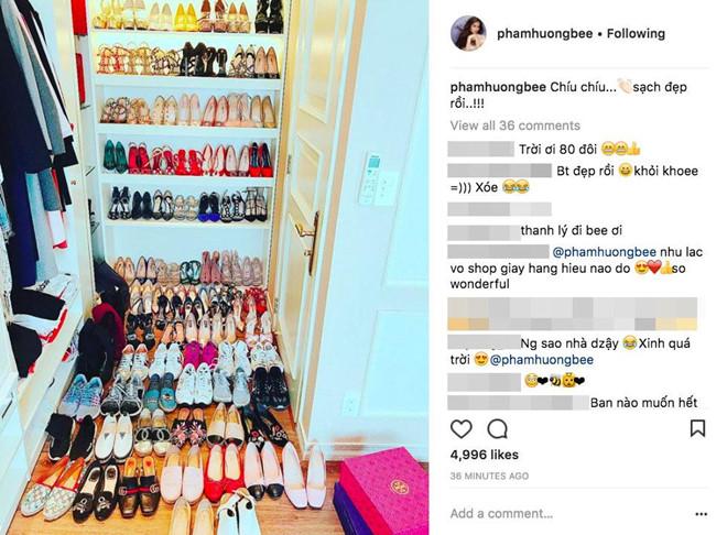 Chi Pu lần đầu đăng video tủ đồ hàng hiệu với gần 100 đôi giày - Hình 3