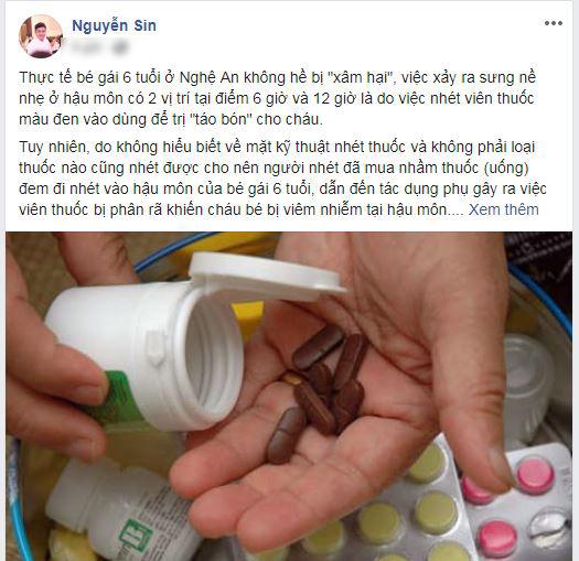 Nguyễn Sin tiết lộ sự thật về vụ bé gái ở Nghệ An bị xâm hại: tất cả chỉ là màn kịch do người bố dựng lên? - Hình 1
