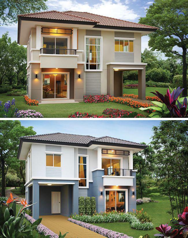 Những mẫu nhà 2 tầng mái thái kiểu mới đẹp ngẩn ngơ - Hình 1