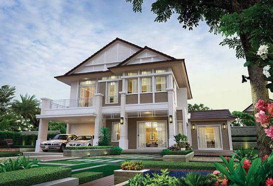Những mẫu nhà 2 tầng mái thái kiểu mới đẹp ngẩn ngơ - Hình 6