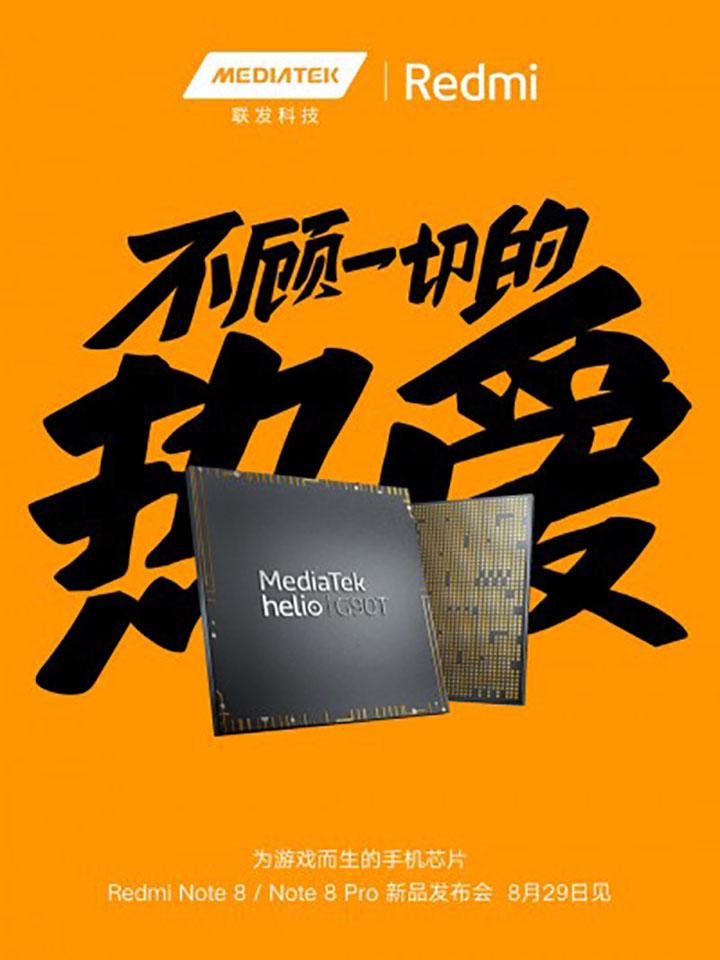 Redmi Note 8 series sẽ dùng chipset MediaTek Helo G90T chuyên game - Hình 1